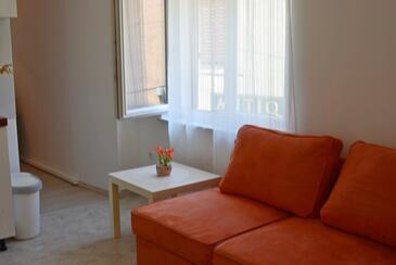 Vrbnik, Obývací pokoj v ubytování typu apartment, WiFi.