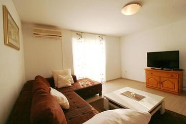 Grbe, Living room in the apartment, air condition available and WiFi.
