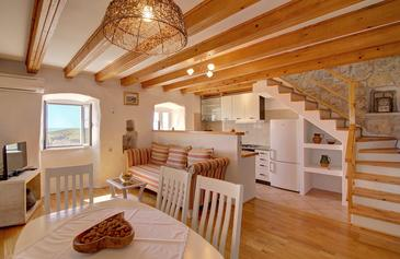 Babino Polje, Living room in the house, air condition available, (pet friendly) and WiFi.