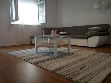 Zadar, Dnevna soba v nastanitvi vrste apartment, dostopna klima in WiFi.