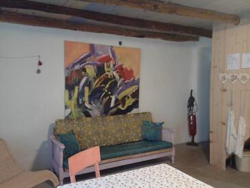 Porozina, Obývací pokoj v ubytování typu apartment, WiFi.