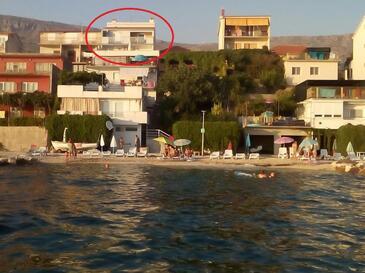 Podstrana, Split, Imobil 14993 - Cazare în apropierea mării cu plajă cu pietriș.