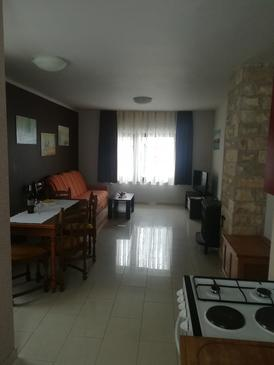 Lokve, Obývacia izba v ubytovacej jednotke apartment, domáci miláčikovia povolení a WiFi.