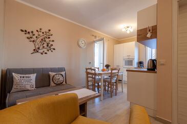 Mali Lošinj, Obývací pokoj v ubytování typu apartment, s klimatizací a WiFi.