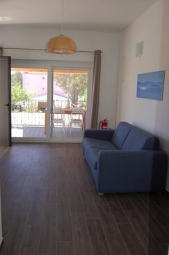 Verunić, Dnevna soba v nastanitvi vrste apartment, dostopna klima, Hišni ljubljenčki dovoljeni in WiFi.