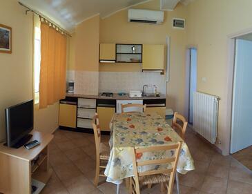 Rakalj, Jídelna v ubytování typu apartment, klimatizácia k dispozícii a WiFi.