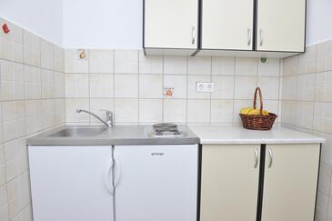 Baćina, Kuchyně v ubytování typu studio-apartment, dopusteni kucni ljubimci i WIFI.