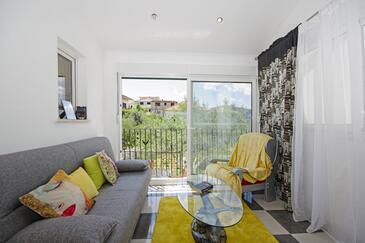 Trogir, Obývací pokoj v ubytování typu house, WiFi.