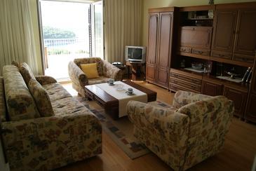 Jelsa, Dnevna soba v nastanitvi vrste apartment, dostopna klima, Hišni ljubljenčki dovoljeni in WiFi.