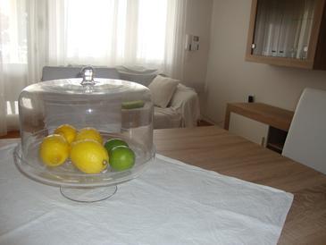 Maslenica, Obývací pokoj v ubytování typu apartment, dostupna klima, dopusteni kucni ljubimci i WIFI.