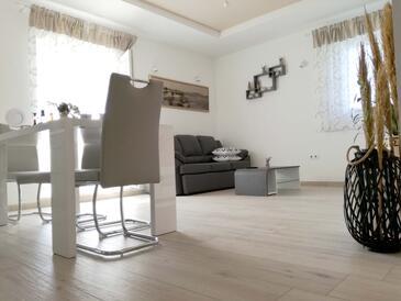 Rukavac, Obývací pokoj v ubytování typu apartment, s klimatizací a WiFi.