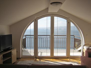 Senj, Obývací pokoj v ubytování typu apartment, s klimatizací a WiFi.