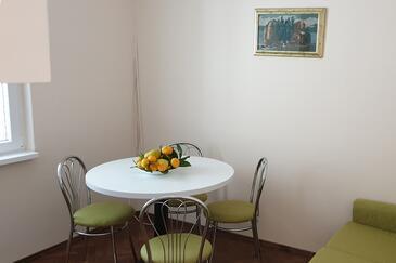 Hvar, Sala da pranzo nell'alloggi del tipo apartment, animali domestici ammessi e WiFi.