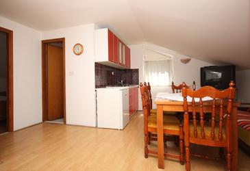 Mlini, Blagovaonica u smještaju tipa apartment, dostupna klima, kućni ljubimci dozvoljeni i WiFi.
