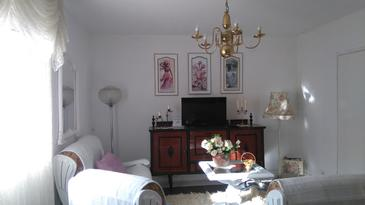 Kijevo, Obývacia izba v ubytovacej jednotke house, domáci miláčikovia povolení a WiFi.