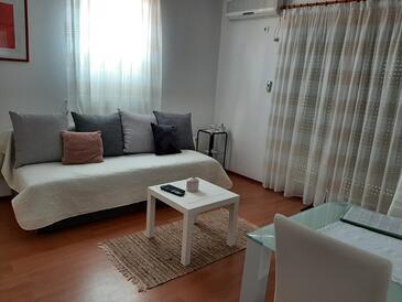 Čižići, Гостиная в размещении типа apartment, доступный кондиционер и WiFi.