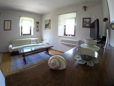 Ložišće, Obývací pokoj v ubytování typu house, s klimatizací, domácí mazlíčci povoleni a WiFi.