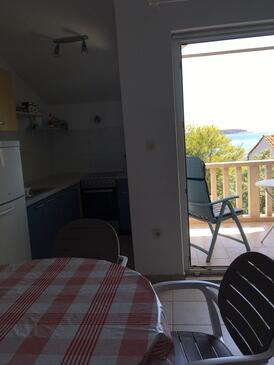 Rukavac, Blagovaonica u smještaju tipa apartment, dostupna klima, kućni ljubimci dozvoljeni i WiFi.
