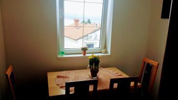 Ičići, Столовая в размещении типа studio-apartment, WiFi.