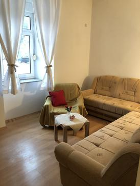 Senj, Living room in the apartment, (pet friendly) and WiFi.