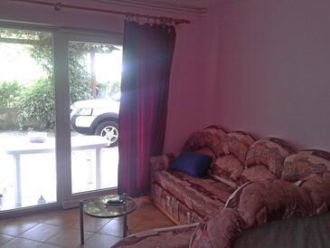 Brodarica, Obývací pokoj v ubytování typu apartment, s klimatizací a WiFi.