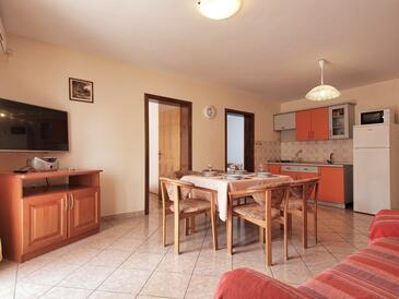 Srima - Vodice, Obývací pokoj v ubytování typu apartment, WiFi.