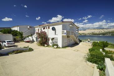 Pag, Pag, Объект 15670 - Апартаменты вблизи моря с галечным пляжем.