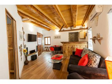 Vrbnik, Living room in the apartment, air condition available and WiFi.