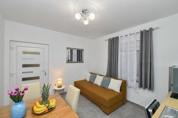 Gradac, Obývací pokoj v ubytování typu apartment, WiFi.