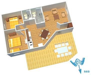 Rogoznica, Půdorys v ubytování typu apartment, WIFI.