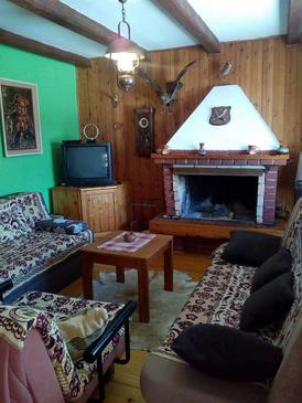 Mrkopalj, Living room in the house, (pet friendly).