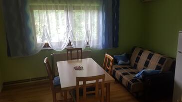 Čovići, Jídelna v ubytování typu apartment, domácí mazlíčci povoleni a WiFi.