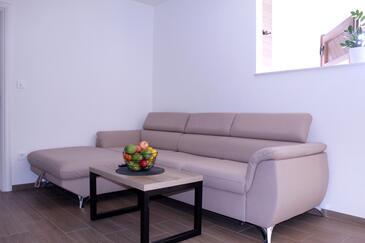 Čepić, Obývací pokoj v ubytování typu apartment, domácí mazlíčci povoleni a WiFi.