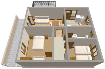 Vela Luka, План в размещении типа apartment, Домашние животные допускаются и WiFi.