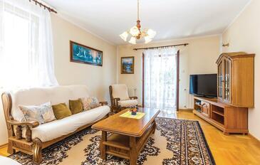 Novi Vinodolski, Гостиная в размещении типа apartment, WiFi.
