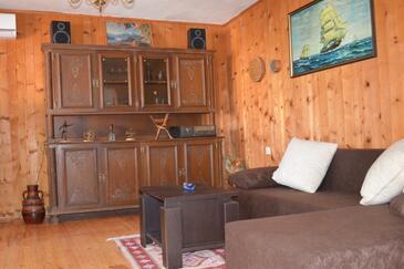 Sutomišćica, Obývacia izba v ubytovacej jednotke house, klimatizácia k dispozícii a WiFi.