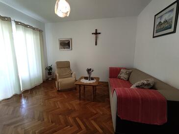 Trpanj, Living room in the apartment, WiFi.