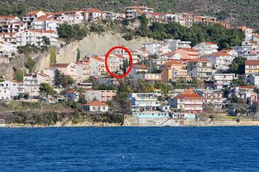 Podstrana, Split, Alloggio 16051 - Appartamenti affitto con la spiaggia ghiaiosa.