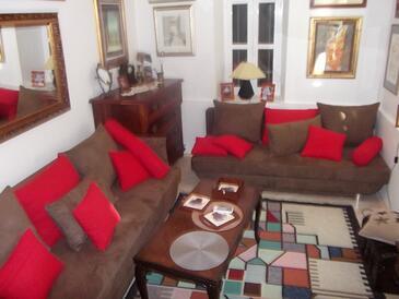 Blace, Obývací pokoj v ubytování typu apartment, s klimatizací, domácí mazlíčci povoleni a WiFi.