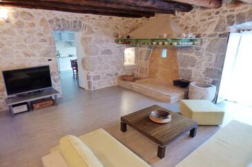 Skrbčići, Obývací pokoj v ubytování typu house, WiFi.