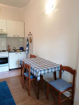 Podgora, Jídelna v ubytování typu apartment, s klimatizací, domácí mazlíčci povoleni a WiFi.