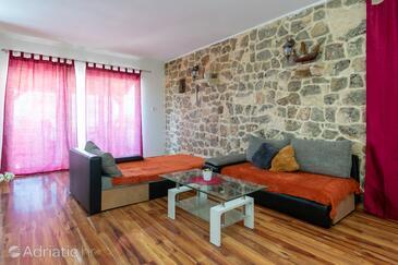 Bibinje, Wohnzimmer in folgender Unterkunftsart apartment, WiFi.