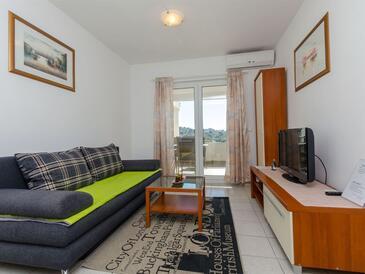 Kanica, Obývací pokoj v ubytování typu apartment, s klimatizací a WiFi.
