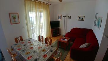 Brgulje, Living room in the apartment, (pet friendly) and WiFi.