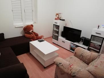 Luka, Living room in the apartment, air condition available, (pet friendly) and WiFi.