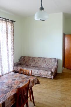 Tkon, Dnevni boravak u smještaju tipa apartment, kućni ljubimci dozvoljeni i WiFi.