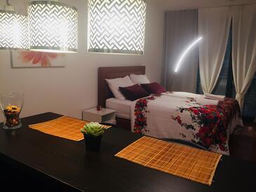 Zagreb, Jídelna v ubytování typu studio-apartment, domácí mazlíčci povoleni a WiFi.