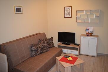 Punat, Гостиная в размещении типа apartment, доступный кондиционер, Домашние животные допускаются и WiFi.
