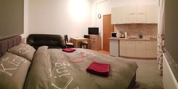 Osijek, Chambre dans l'hébergement en type studio-apartment, climatisation disponible et WiFi.