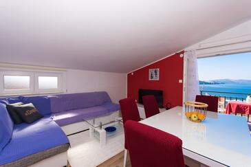 Okrug Gornji, Obývací pokoj v ubytování typu apartment, WiFi.